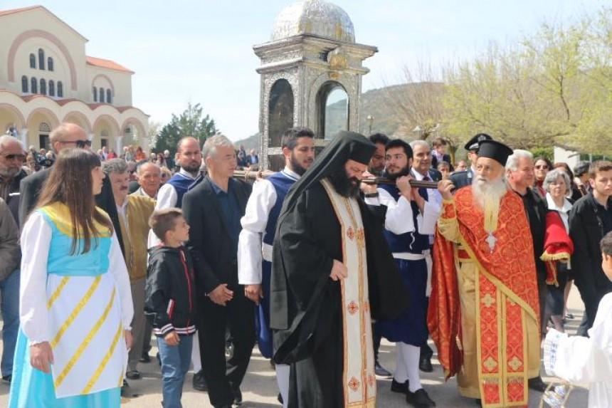 Η λιτανεία στην Ιερά Μονή του Αγίου Γερασίμου (εικόνες)