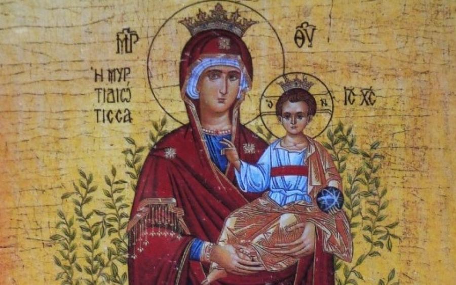 Της Παναγίας της Μυρτιδιώτισσας σήμερα - Γιορτάζουν Θέκλα, Μυρσίνη και  Μυρτώ - InKefalonia