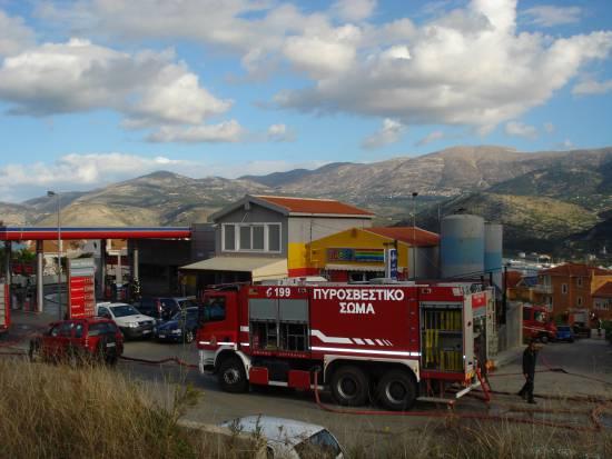 Πυροσβεστική : Άσκηση με σενάριο κατάσβεση σε βενζινάδικο