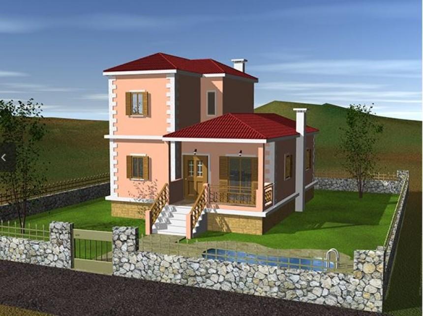 Πρόταση κατασκευής διώροφης κατοικίας, στην Κεφαλονιά