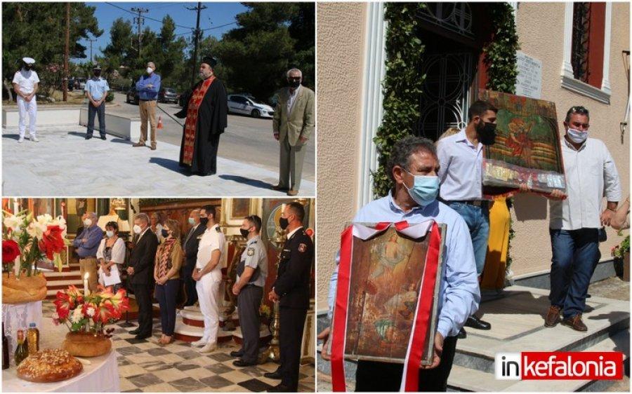 Αργοστόλι: Τίμησαν τους αγωνιστές της Εθνικής Αντίστασης και τον Αγιο Χριστόφορο στα Φάρσα (εικόνες)